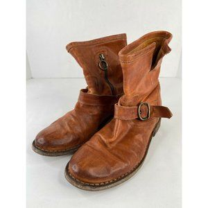FIORENTINI + BAKER Leather Buckle Ankle Boots